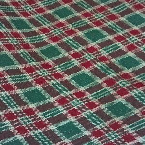 Holiday Christmas Plaid Fabric Sewing Craft Art
